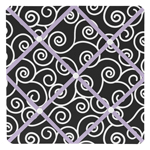 Purple and Black Kaylee Fabric Memory/Memo Photo Bulletin Board by Sweet Jojo Designs