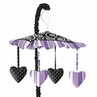 Purple and Black Kaylee Musical Baby Crib Mobile by Sweet Jojo Designs