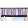Purple and Black Kaylee Window Valance by Sweet Jojo Designs