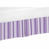 Purple and Black Stripe Crib Bed Skirt for Kaylee Baby Bedding Sets by Sweet Jojo Designs