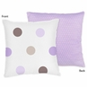 Purple and Brown Mod Dots Decorative Accent Throw Pillow by Sweet Jojo Designs
