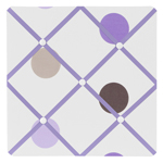 Purple and Brown Mod Dots Fabric Memory/Memo Photo Bulletin Board