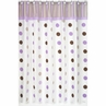 Purple and Brown Mod Dots Kids Bathroom Fabric Bath Shower Curtain