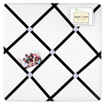 Purple, Black and White Princess Fabric Memory/Memo Photo Bulletin Board