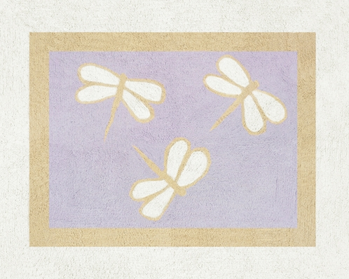 Purple Dragonfly Dreams Accent Floor Rug - Click to enlarge