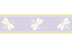 Purple Dragonfly Dreams Baby and Kids Wall Border by Sweet Jojo Designs
