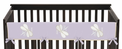 Purple Dragonfly Dreams Baby Crib Long Rail Guard Cover by Sweet Jojo Designs