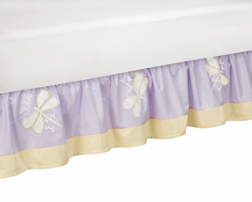 Purple Dragonfly Dreams Bed Skirt for Toddler Set by Sweet Jojo Designs - Click to enlarge