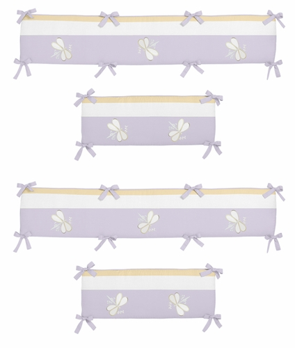 Purple Dragonfly Dreams Collection Crib Bumper by Sweet Jojo Designs - Click to enlarge