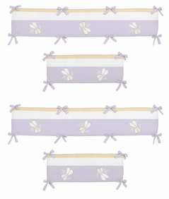 Purple Dragonfly Dreams Collection Crib Bumper by Sweet Jojo Designs