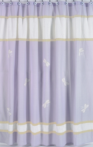Purple Dragonfly Dreams Kids Bathroom Fabric Bath Shower Curtain - Click to enlarge