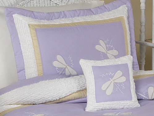 Purple Dragonfly Dreams Pillow Sham - Click to enlarge