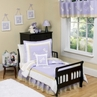 Purple Dragonfly Dreams Toddler Bedding - 5 pc set