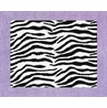 Purple Funky Zebra Accent Floor Rug