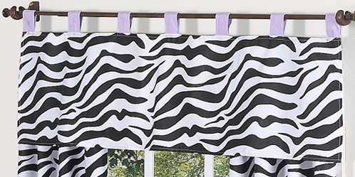 Purple Funky Zebra Window Valance by Sweet Jojo Designs - Click to enlarge