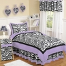 Purple Funky Zebra Teen Bedding - 3 pc Full / Queen Set
