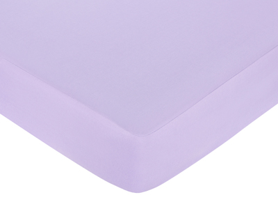 Purple Funky Zebra Fitted Crib Sheet - Purple - Click to enlarge