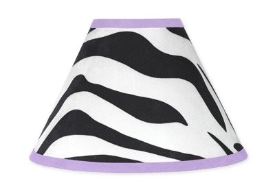 Purple Funky Zebra Lamp Shade by Sweet Jojo Designs - Click to enlarge