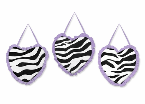 Purple Funky Zebra Wall Hanging Accessories by Sweet Jojo Designs - Click to enlarge