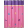 Purple Groovy Peace Sign Kids Bathroom Fabric Bath Shower Curtain