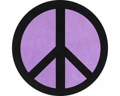 Purple Groovy Peace Sign Tie Dye Accent Floor Rug