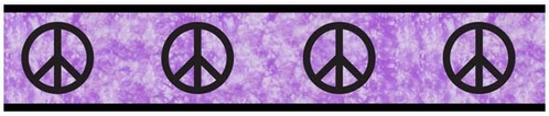 Purple Groovy Peace Sign Tie Dye Kids and Teens Wall Paper Border by Sweet Jojo Designs - Click to enlarge