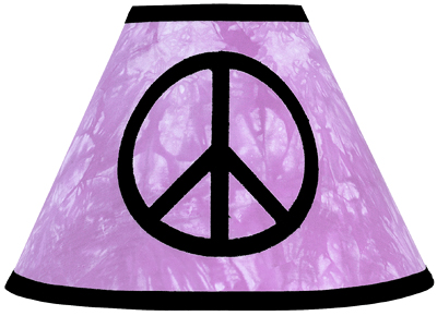 Purple Groovy Peace Sign Tie Dye Lamp Shade by Sweet Jojo Designs - Click to enlarge