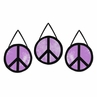 Purple Groovy Peace Sign Tie Dye Wall Hanging Accessories by Sweet Jojo Designs