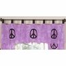 Purple Groovy Peace Sign Tie Dye Window Valance by Sweet Jojo Designs