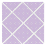 Purple Polka Dot Fabric Memory/Memo Photo Bulletin Board for Mod Dots Collection by Sweet Jojo Designs