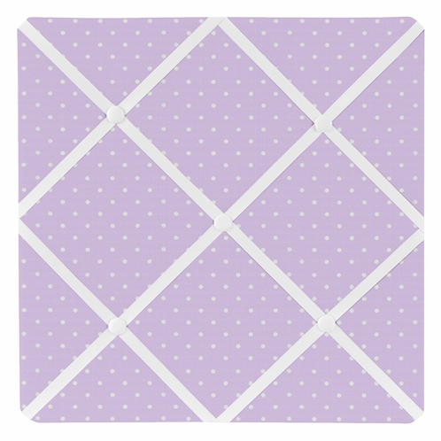 Purple Polka Dot Fabric Memory/Memo Photo Bulletin Board for Mod Dots Collection by Sweet Jojo Designs - Click to enlarge