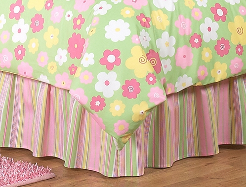 Twin Bed Skirt for Blossom  Kids Childrens Bedding Sets by Sweet Jojo Designs - Click to enlarge