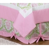 Queen Bed Skirt for Pink and Lime Juliet Bedding Sets by Sweet Jojo Designs