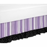 Queen Bed Skirt for Purple and Black Kaylee Childrens Teens Bedding Sets by Sweet Jojo Designs