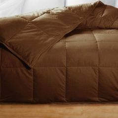 Queen Chocolate Brown Feather Down Comforter