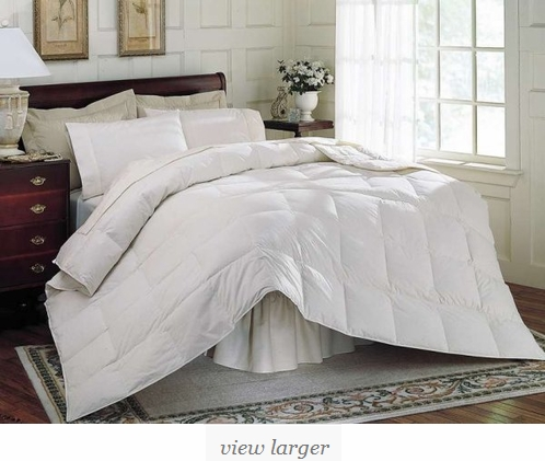 comforter goose fill luxury warmth provides down power shell pure medium pin cotton for queen full stripe white