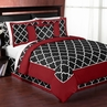 Red and Black Trellis 3pc Full / Queen Bedding Set by Sweet Jojo Designs