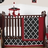 Red and Black Trellis Baby Bedding - 11pc Crib Set by Sweet Jojo Designs