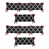 Red and Black Trellis Collection Crib Bumper by Sweet Jojo Designs