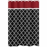 Red and Black Trellis Kids Bathroom Fabric Bath Shower Curtain by Sweet Jojo Designs