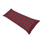 Red and Black Woodland Plaid Flannel Body Pillow Case Cover for Rustic Patch Collection by Sweet Jojo Designs (Pillow Not Included)