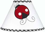 Red and White Ladybug Polka Dot Girls Childrens Lamp Shade by Sweet Jojo Designs