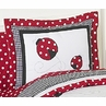 Red and White Ladybug Polka Dot Pillow Sham