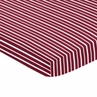 Red and White Stripe Baby or Toddler Fitted Mini Portable Crib Sheet for Aviator Collection by Sweet Jojo Designs