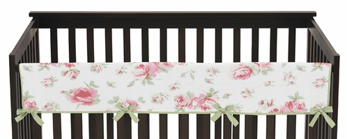 Riley's Roses Baby Crib Long Rail Guard Cover by Sweet Jojo Designs - Click to enlarge