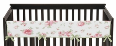 Riley's Roses Baby Crib Long Rail Guard Cover by Sweet Jojo Designs