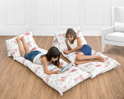 Riley's Roses Collection Kids Teen Floor Pillow Case Lounger Cushion Cover by Sweet Jojo Designs - Click to enlarge