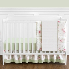 Riley's Roses Floral Baby Bedding - 11pc Crib Set