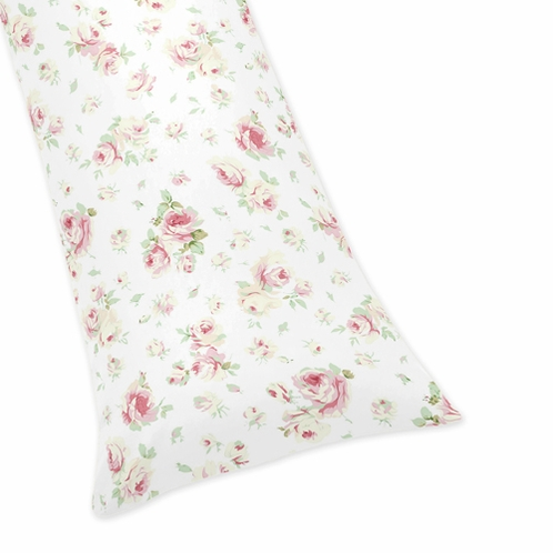 Riley's Roses Full Length Double Zippered Body Pillow Case Cover by Sweet Jojo Designs - Click to enlarge
