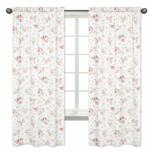 Riley's Roses Window Treatment Panels - Set of 2 - Click to enlarge